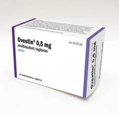 OVESTIN 0,5 mg emätinpuikko 15 fol
