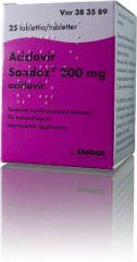 ACICLOVIR SANDOZ 200 mg tabl 25 kpl
